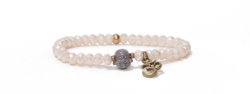 Armband Facettperlen Buddha