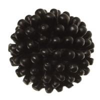 Cabochon aus Kunstharz, rund, Durchmesser 12 mm, schwarz