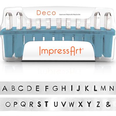 ImpressArt Schlagstempel mit Buchstaben und Zahlen