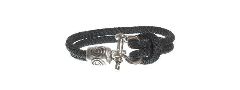 Armband mit Segelseil dunkelgrau