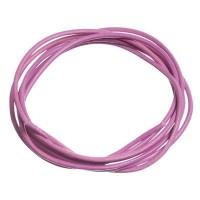 Lederband, 1 bis 1,5 mm, Länge 1 m, rose