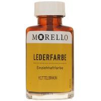 Morello Lederfarbe, Flasche mit Auftragepinsel, 40 ml,  Mittelbraun