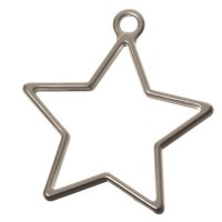 CM Metallanhänger Stern, 35 x 32 mm, silberfarben matt