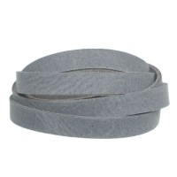 Craft Lederband, 10 mm x 2 mm, Länge 1 m, Steel