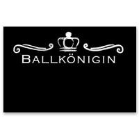 """Schmuckkarte """"Ballkönigin"""", schwarz, Größe 8,5 x 5,5 cm"""
