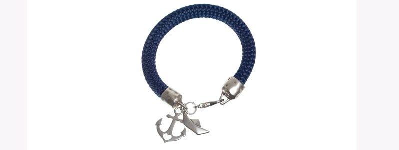 Maritimes Armband mit Segelseil Anker