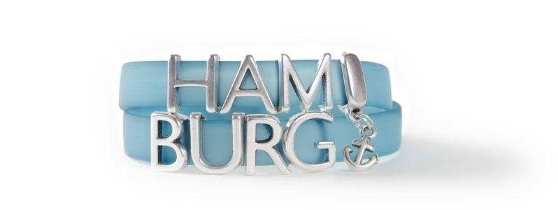 Armband mit Buchstabenperlen HAMBURG