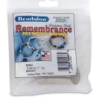 Beadalon Memory-Wire für Fingerringe, silberfarben, 7 Gramm (ca. 49 Windungen)