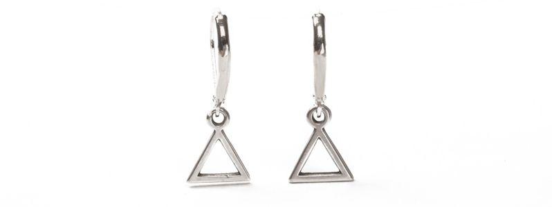 Geometrics-Ohrhänger Offenes Dreieck Versilbert