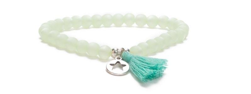 Armband Blue Bell mit Polarisperlen und Troddel