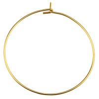 Edelstahl Creole, goldfarben, Durchmesser 35 mm, Pin: 0,7 mm