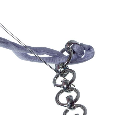 Geflochtenes Seidenarmband selber machen Schritt 7