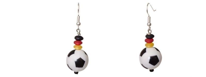 Ohrringe mit Fußballperlen