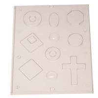 Gießform für Schmuck, 10 verschiedene Formen in einer Gießform
