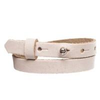Craft Lederarmband für Sliderperlen, Breite 10 mm, Länge 39 - 40 cm, ecru