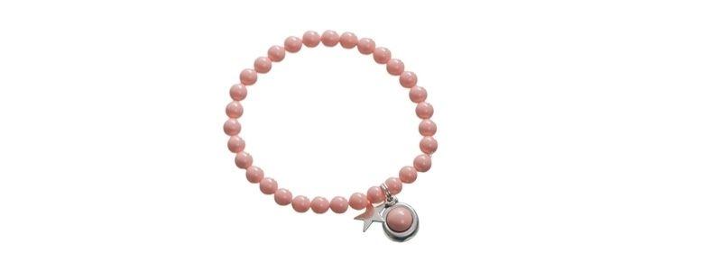 Armband mit Crystal Pearl Cabochons Coral