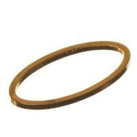 CM Metallanhänger Oval, 16 x 9 mm, goldfarben