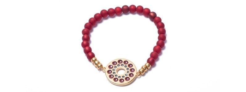 Armband mit Boho Emaille und Polaris Siam