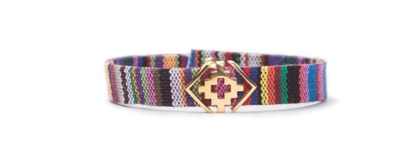 Armband mit Schiebeperlen Ethno Gold
