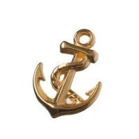 Metallanhänger Anker, 17 x 12 mm, vergoldet