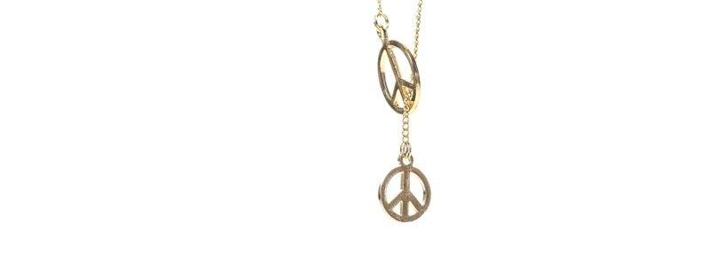Feine goldene Halsketten Peace