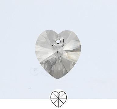 Preciosa 10 mm Heart Pendant