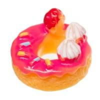 Kunststofffigur für Glaskugeln Donut, 14,5 x 15 x 10 mm, pink