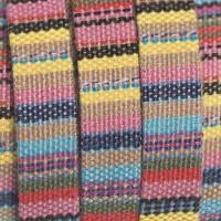 Ethno Schmuck Band flach, 10 x 1,8 mm , Länge 1 m, Pastell Mix