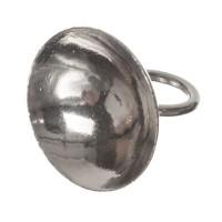 Aufhängung/Deckel für Glaskugeln, für Kugelöffnung 4 -8 mm, silberfarben