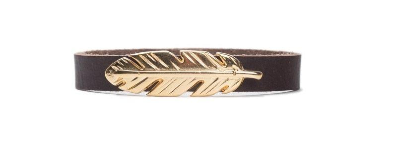 Armband mit Schiebeperlen Feder