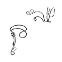 Ohrspange, 1 Paar silberfarben