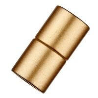 Magic-Power-Magnetverschluss Zylinder 21,5 x 10,5 mm, mit Bohrung 8 mm, goldlfarben matt