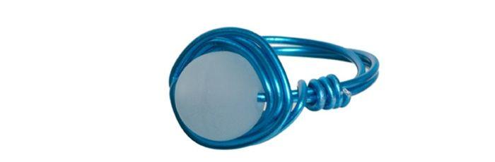 Wickel-Ring Blau-Aqua