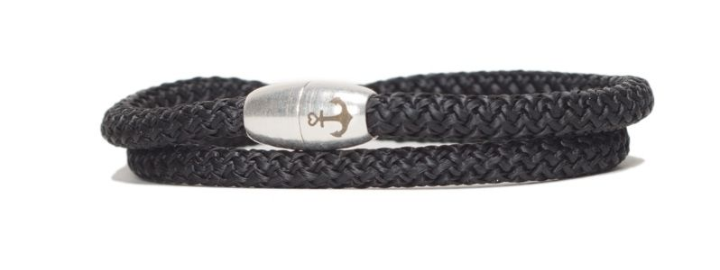 Armband mit Segelseil und Magnetverschluss schwarz