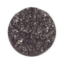 Polaris Goldstein Cabochon, rund, 12 mm, schwarz