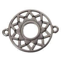 Armbandverbinder Kronen-/Scheitelchakra, 25 x 20 mm, versilbert