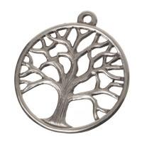 Metallanhänger Baum, 37 x 33 mm, versilbert