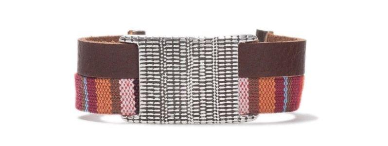 Armband mit Schiebeperlen Doppelslider Viereck