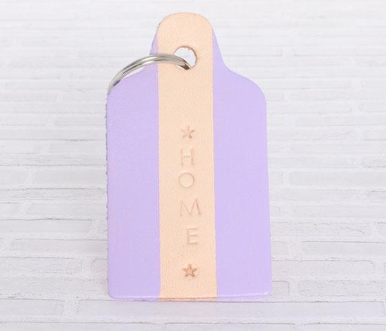Schlüsselanhänger mit Lederfarbe und Prägestempeln machen Schritt 10