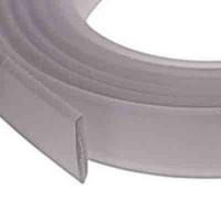 Flaches PVC-Band 10 x 2 mm,  hellgrau, 1 m