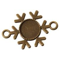 Anhänger/Fassung für Cabochons, rund 12 mm, 2 Ösen, antik bronzefarben