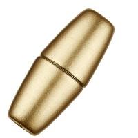 Magic-Power-Magnetverschluss Olive 33,5 x 12,5 mm, mit Bohrung 6 mm, goldlfarben matt