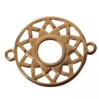 Armbandverbinder Kronen-/Scheitelchakra, 25 x 20 mm, vergoldet