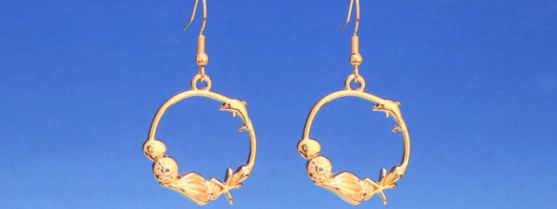 Ohrringe für Meerjungfrauen mit Muscheln