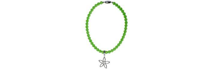 Clip-Kette Blume Grün