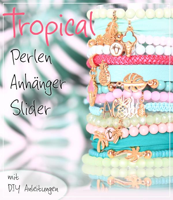 Tropical Sommer Anhänger und Perlen