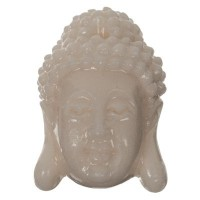 Perle Buddhakopf, 15 x 11 mm, Synthetische Koralle, elfenbein