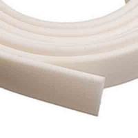 Flaches PVC-Band 10 x 2 mm, weiß,  1 m