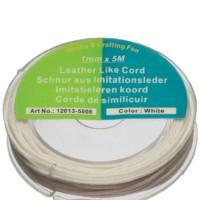 Rolle Baumwollband 1mm, Länge 5 m, weiß