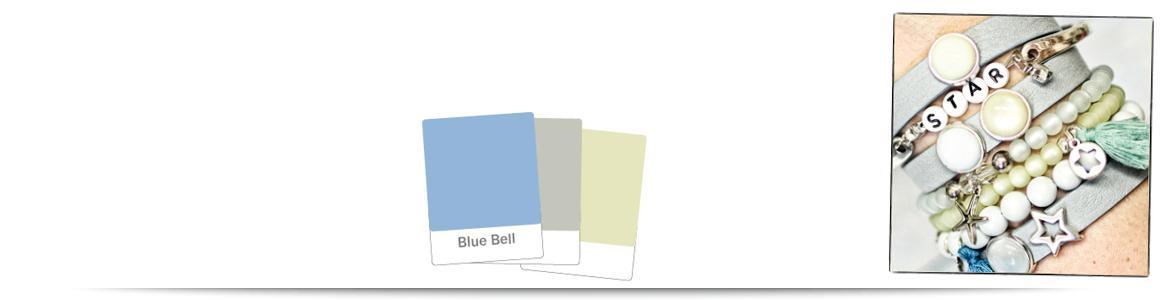 Armbänder zum Farbtrend  Blue Bell